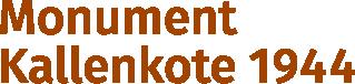 Monument Kallenkote 1944